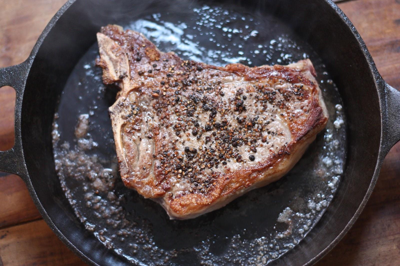 Steak Iron Cast Eye Skillet Rib