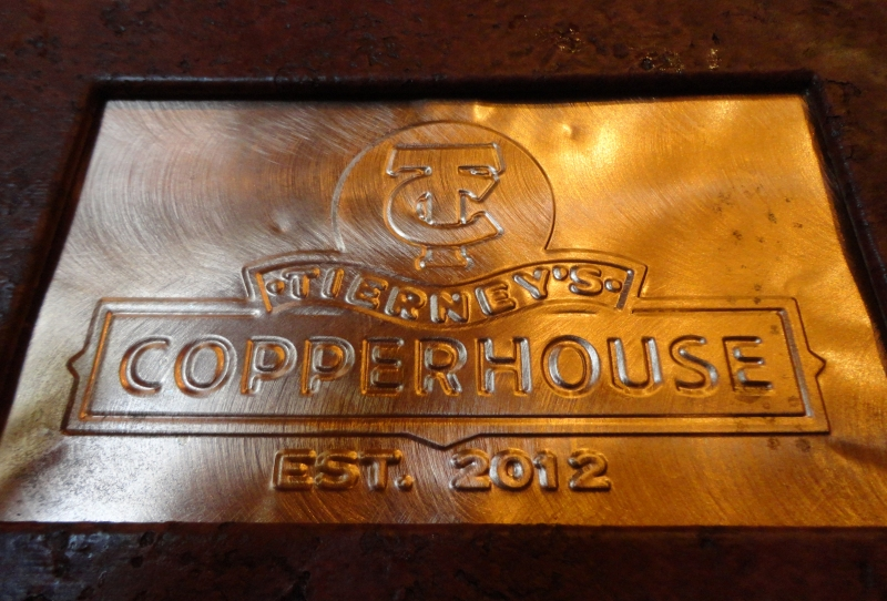 Tierney's Copperhouse Menu