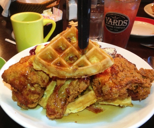 Twisted Elm Chicken and Bacon Waffles