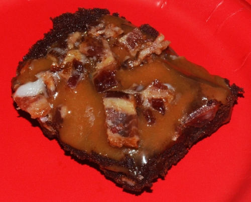 Candy Bacon Chocolate Brownie