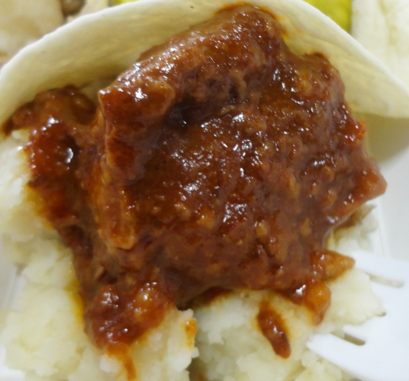 Beer Braised Pork Cheeks with Garlic Mashed Potato