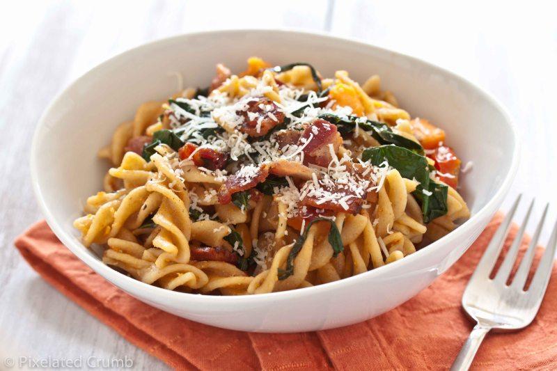 Garlic Pasta and Kale