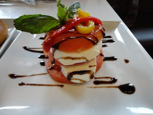 Tomato and Mozzarella Cheese Appetizer