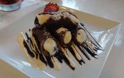 Central Kitchen's signature chocolate covered cannoli