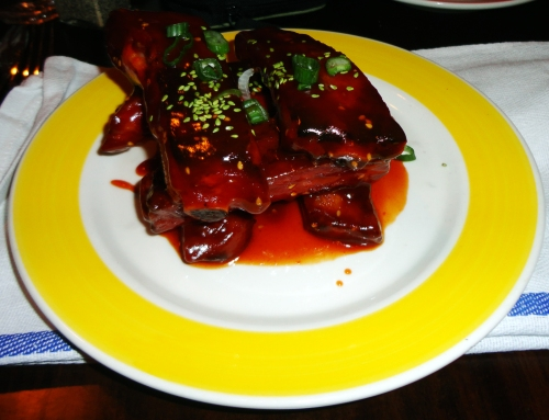 Smoked St. Louis Ribs with Sriracha BBQ sauce