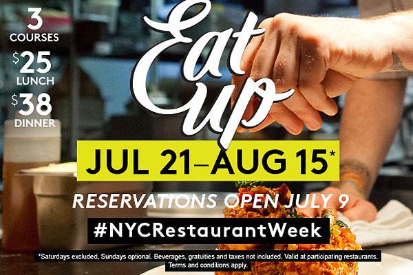 restaurant week NYC 2015