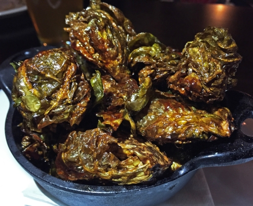 "To paraphrase Rick James, ""Fried Brussels Spouts are a hell of drug! """