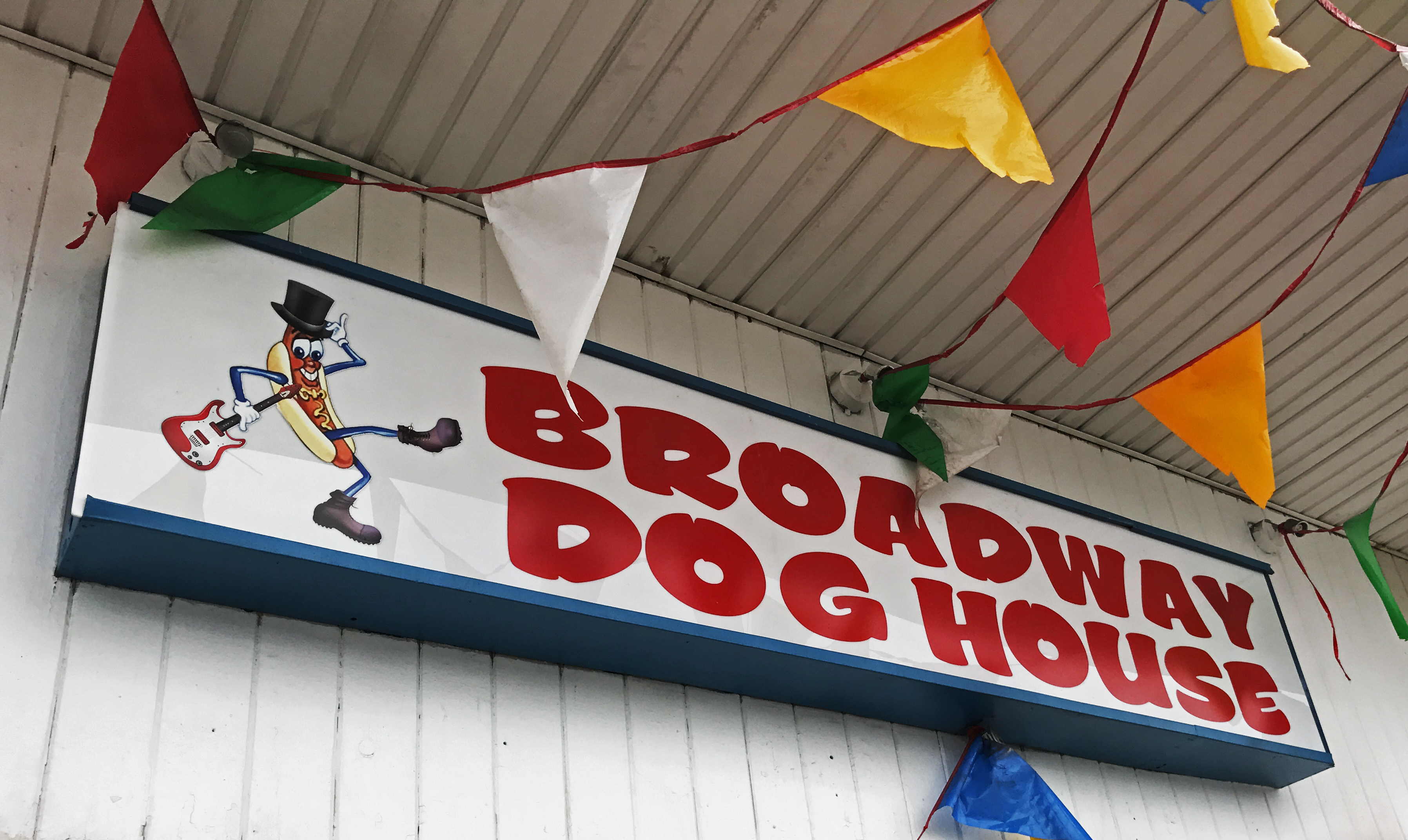Broadway dog house frontsign the blue collar foodie for Broadway house